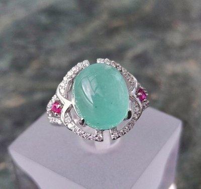 珍奇翡翠珠寶首飾-天然無燒祖母綠6.9...