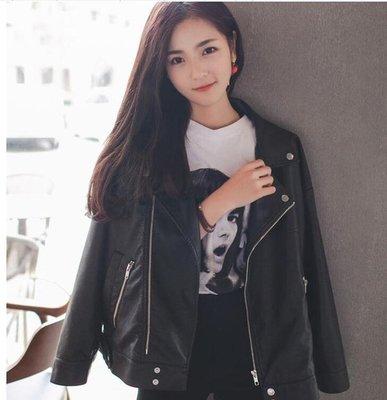 chic小皮衣女短款外套韓版顯瘦學生寬鬆pu皮夾克機車bf風