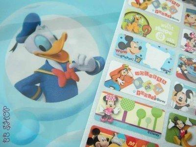 迪士尼米奇妙妙屋---防水彩色授權姓名貼紙~0.9*2.2cm一份300張80元/特賣中