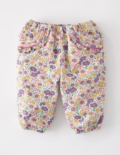 *Dou Dou House*英國歐洲進口Mini Boden童裝/紫色小碎花燈籠褲-Size:6-12M(現貨)