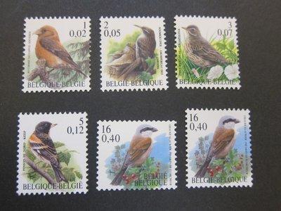 【雲品】比利時Belgium 2000 Sc 1785-88,1790,1790A bird MNH 庫號#75461