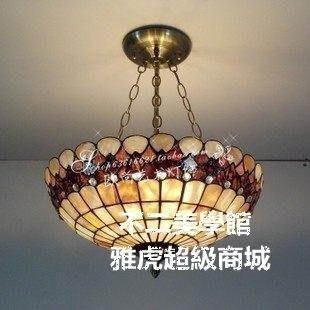 【格倫雅】^16寸金珠鴻運天然貝殼吊燈歐式田園風格賓館酒店咖啡廳客房吧臺燈51717[