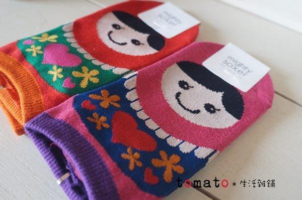 ˙TOMATO生活雜鋪˙日本進口雜貨棉質俄羅斯娃娃圖樣短襪船型襪