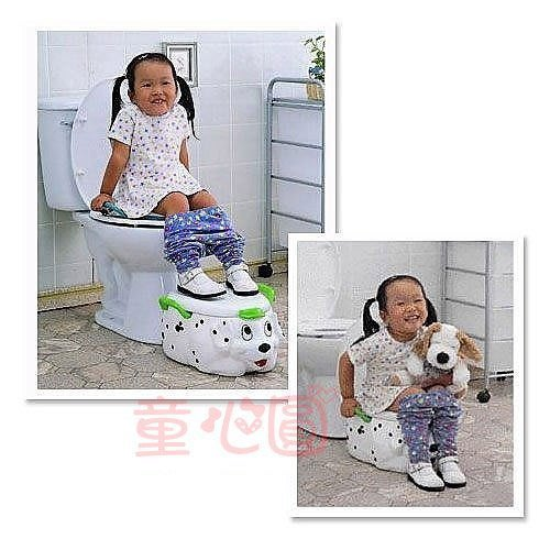 多功能狗狗造型馬桶 (白/黃)台灣製造*ST安全玩具*外銷精品◎童心玩具1館◎