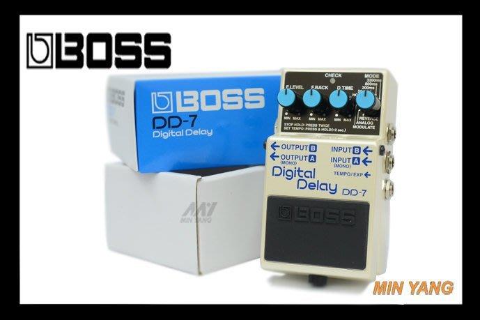 【民揚樂器】效果器 BOSS DD-7 數位延遲效果器 Digital Delay