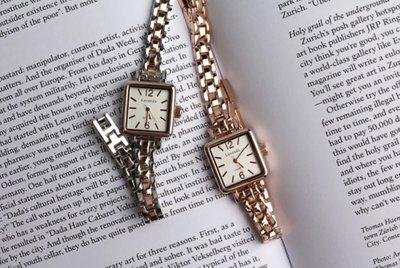 薇安手錶集市~◎ 韓國代購◎Merci 巴黎女人 優雅方塊鍊條手錶 腕錶 女 不銹鋼