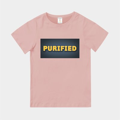 T365 MIT 親子裝 T恤 童裝 情侶裝 T-shirt 標語 話題 口號 美式風格 slogan PURIFIED