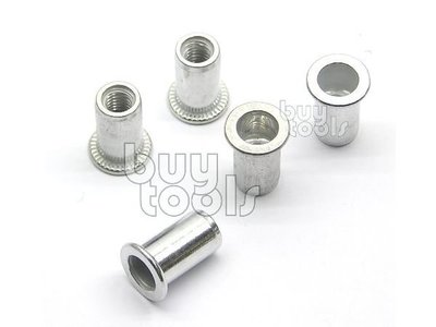 台灣工具-INSERT NUT SERIES 高品質鋁拉帽、歐盟標準、M8*圓型*大唇、每顆售價「含稅」