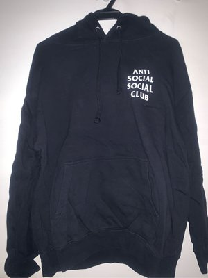 AntiSocial Social Club MIND GAMES 經典 Hoodie 帽T 白印 BLACK