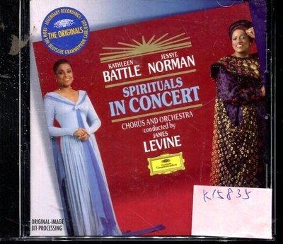 *真音樂* BATTLE NORMAN / LEVINE / SPIRITUALS IN CONCERT 德版 二手 K15835 (封底.左右側破)
