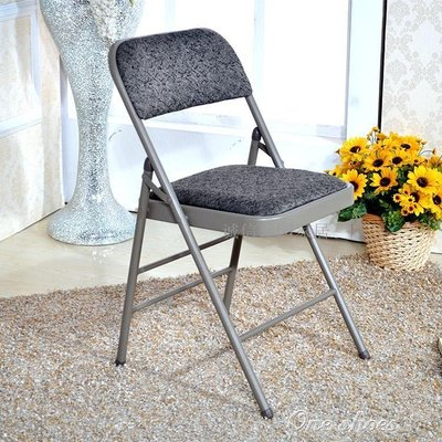折疊椅 學生宿舍電腦椅培訓椅辦公椅子凳子 餐椅靠背椅家用會議椅    YXS