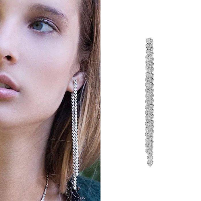 💎1491、麥穗微鑲貴氣特殊設計耳環-單個(兩種戴法,後掛式設計)💎正韓飾品 耳環 珠寶 925純銀針