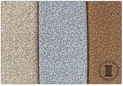 ✿小布物曲✿ 鄉村復古花草系列棉布 窄幅110CM 日本進口質感優 共3色 單價/尺