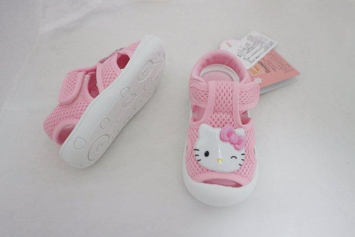 鞋之誠~~凱蒂貓 hello kitty 童鞋 寶寶鞋 涼鞋 KT819213 粉色  13~16號 內長13~16公分