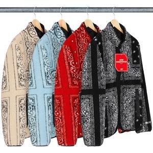 【紐約范特西】預購 SUPREME FW19 Reversible Jacket 雙面 變形蟲 班丹納 羊毛 外套