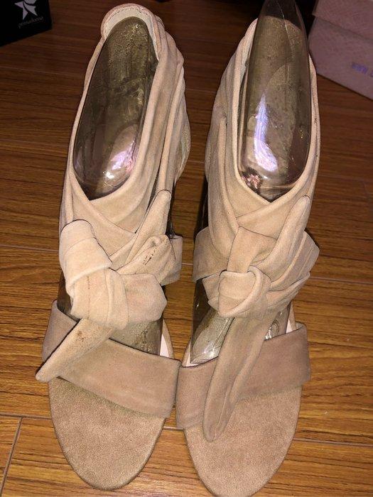 國外大牌RI高跟綁帶涼鞋size:38