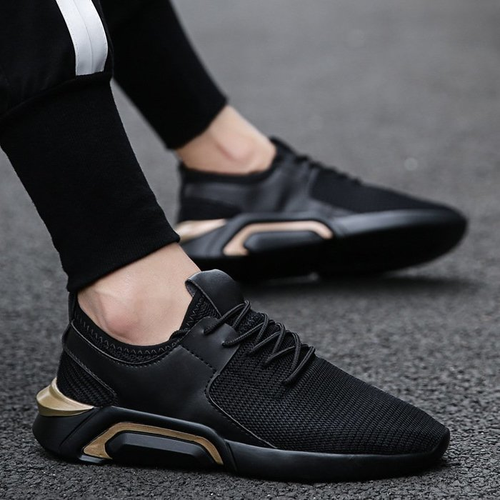 時尚男鞋男士休閑運動鞋爆款男鞋韓版時尚潮鞋跨境跑步鞋飛織運動鞋男