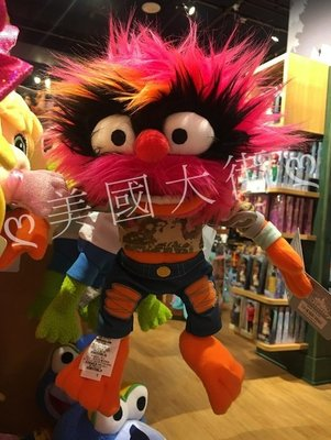 【美國大街】正品.美國迪士尼布偶歷險記熊布偶大電影 Muppets 絨毛娃娃 Muppets 布偶 12吋 / 30cm