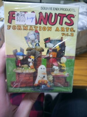 史勞比 Peanuts Formation Art Vol.2  全新盒蛋模型一套5款 square enix products 31132