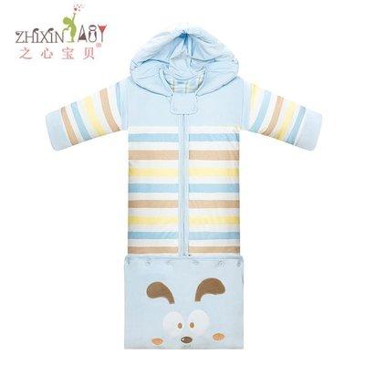 嬰兒睡袋秋冬加厚寶寶睡袋多功能可拆卸嬰...