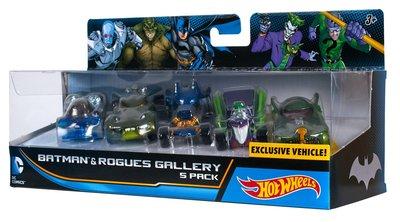 金錢貓雜貨全新Hot Wheels DC 1/64 蝙蝠俠 蝙蝠車 Batman Rogues Gallery 一套5架