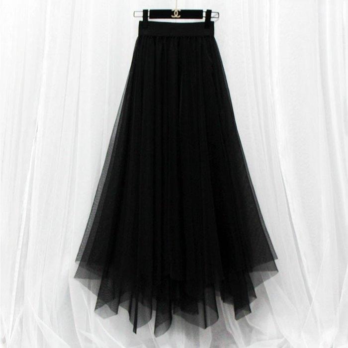長裙 #2077 ?Mini Moda? 雪紡蕾絲  百搭有型