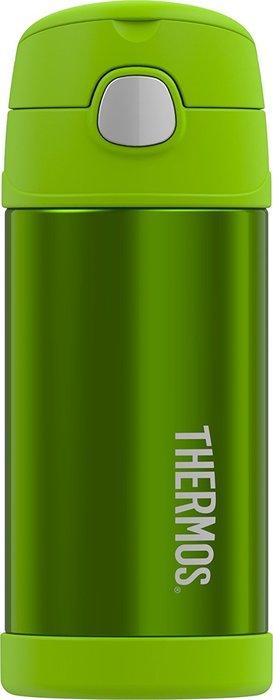 【萱萱婦幼館】美國 Thermos 膳魔師兒童水杯 不銹鋼保溫瓶 新款提把 素綠_現貨