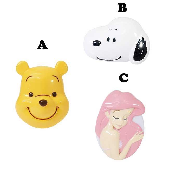 卡通造型髮梳 迪士尼 愛麗兒 Snoopy 小熊維尼 三款選 日本進口正版授權