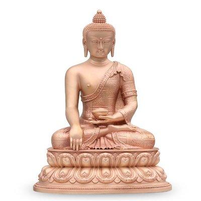 【睿智精品】銅佛像 南無本師釋迦牟尼佛 法像莊嚴 隨身佛 紅銅(GA-4770)