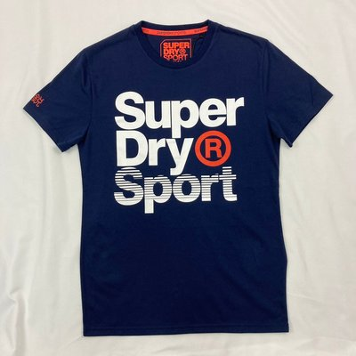 衝評 8376 FQ5 觸感超讚 運動 極度乾燥 深藍 圓領 男款 短袖 短T T恤 superdry 越南製