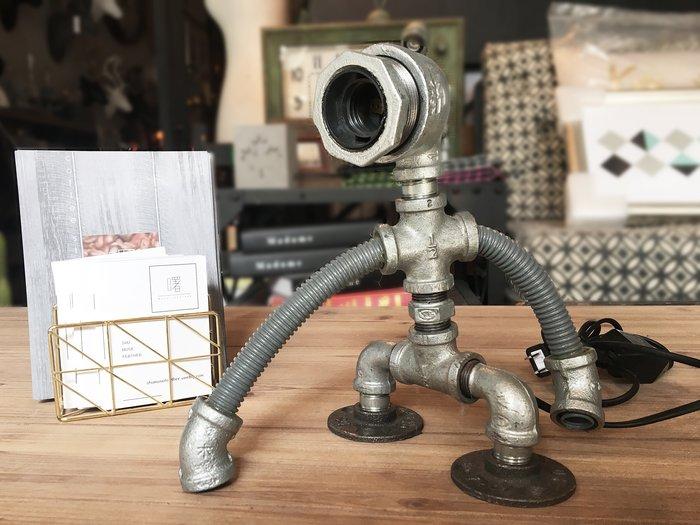 【曙muse】工業風檯燈(可調光)機器人桌燈 造型檯燈 loft 工業風 咖啡廳 民宿 餐廳 住家 設計