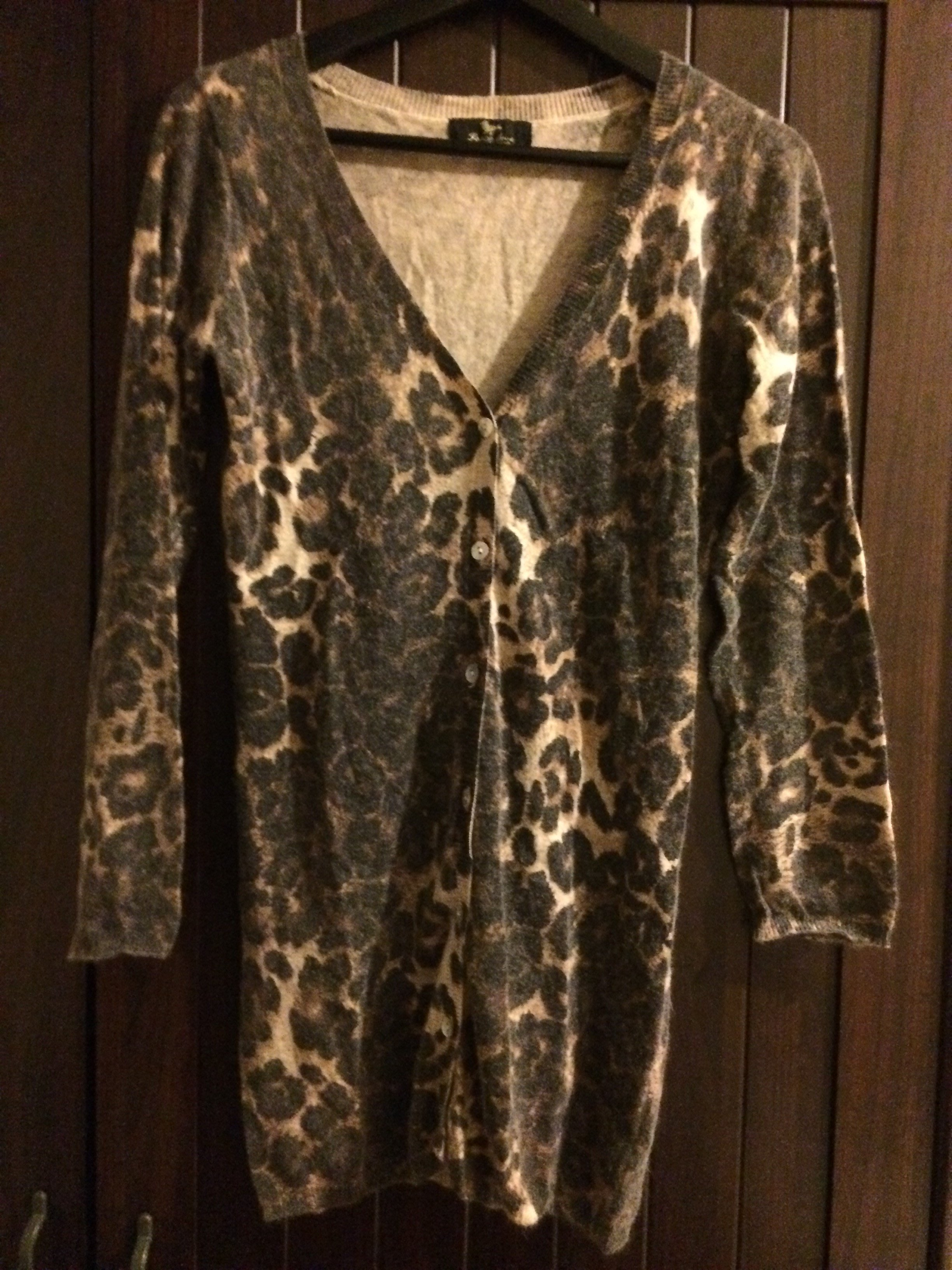 peace dove  豹紋針織外套罩衫