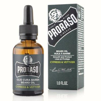 義大利 PRORASO 鬍鬚保養油 雪松琥珀滋潤調理鬍鬚並增添持久的光澤。