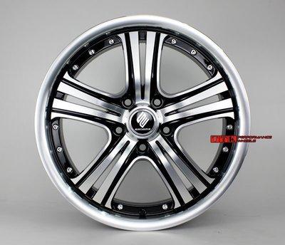 【台灣輪胎王】VIP 精品 日系精神 新款鋁圈樣式 17吋 5孔114.3 7J ET42 黑車面