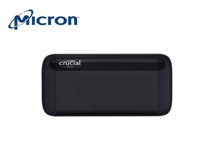 「ㄚ秒市集」Micron 美光 Crucial X8 1TB 外接式 SSD USB3.2 Gen2 TYPE-CB