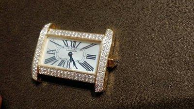 【愛錶回春中心】專業代鑲鑽石~ 請自備錶 18k黃  cartier Divan  25x31mm