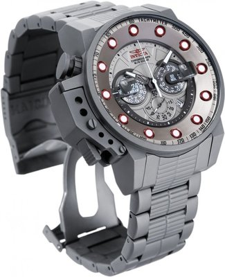 《大男人》Invicta BOMBER瑞士大錶徑52MM個性潛水錶,稀有鈦銀色非常殺值得收藏
