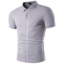 夏裝新款男士短袖POLO衫休閑半截袖小衫潮流修身 男裝短袖T白