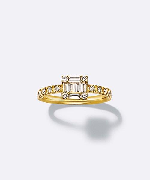 【日本代購】小店主的購物小店:BELLESIORA 戒指 K18ダイヤモンドリング(40123311040)