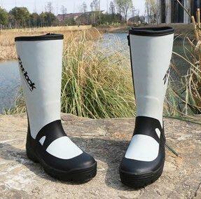 男士出口外貿大碼防滑釣魚戶外中高筒橡膠雨鞋雨靴