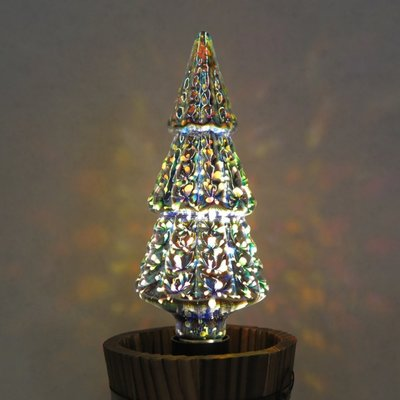 DL燈泡博士💡 3D雷射光雕 - 耶誕樹🌲立體愛迪生LED燈泡5W小夜燈桌燈吊燈壁燈裝飾燈泡耶誕節燈串聖誕節燈泡七彩
