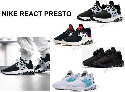 NIKE REACT PRESTO 魚骨鞋 慢跑鞋 襪套 運動鞋 黑白 全黑 黑紅 休閒鞋 男鞋 女鞋
