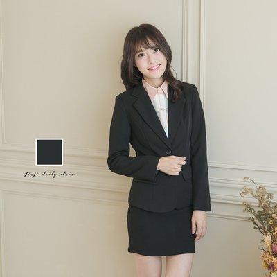 OL上班/學生制服/專題/ 女生兩釦黑色西裝外套《SEZOO襯衫殿 高雄店家》065108829