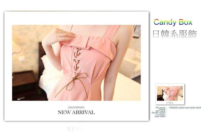 ☆Candy Box☆2014夏裝新款女裝波西米亞長裙夏季連衣裙高腰大碼無袖吊帶沙攤裙 粉(L) Z2611751