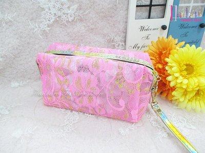 ☆[Hankaro]☆歐美流行爆款方形蕾絲化妝包