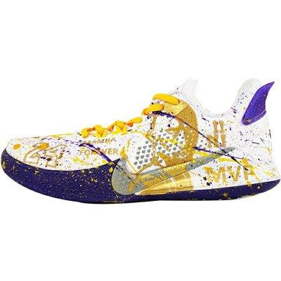 NIKE KB MAMBA 科比曼巴精神黄紫配色手绘鞋子球鞋定制N-0255