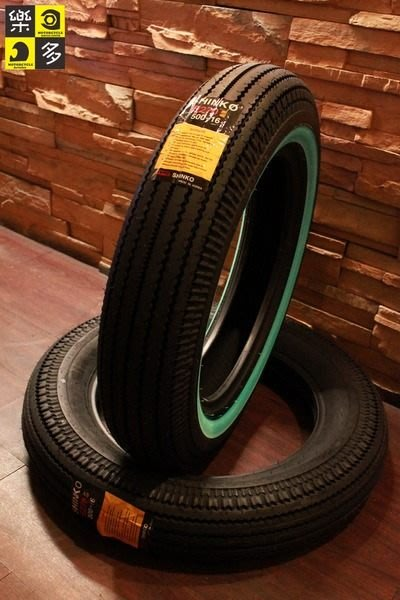 (I LOVE樂多)SHINKO E270 白邊復古鋸齒胎(E240 Firestone old school chopper sr w650 h-d)