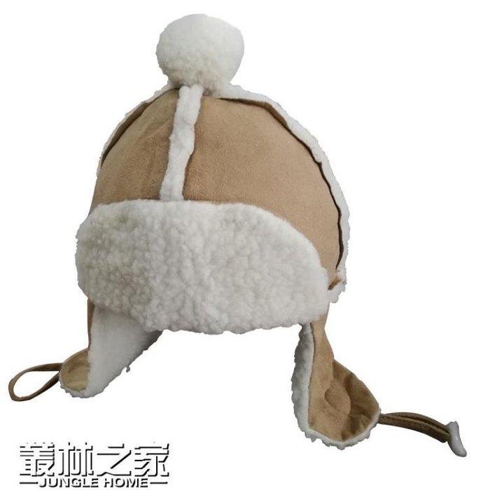 韓國新款秋冬天可愛羊羔毛雷鋒帽男女保暖帽子飛行帽滑雪護耳帽潮