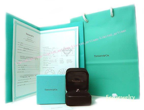 《Eco-jewelry》【Tiffany】經典最新款六爪鉑金鑽石0.46ct 戒指附件齊全~專櫃真品近新品