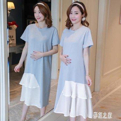 【Miosio】 孕婦洋裝 夏裝百褶裙...